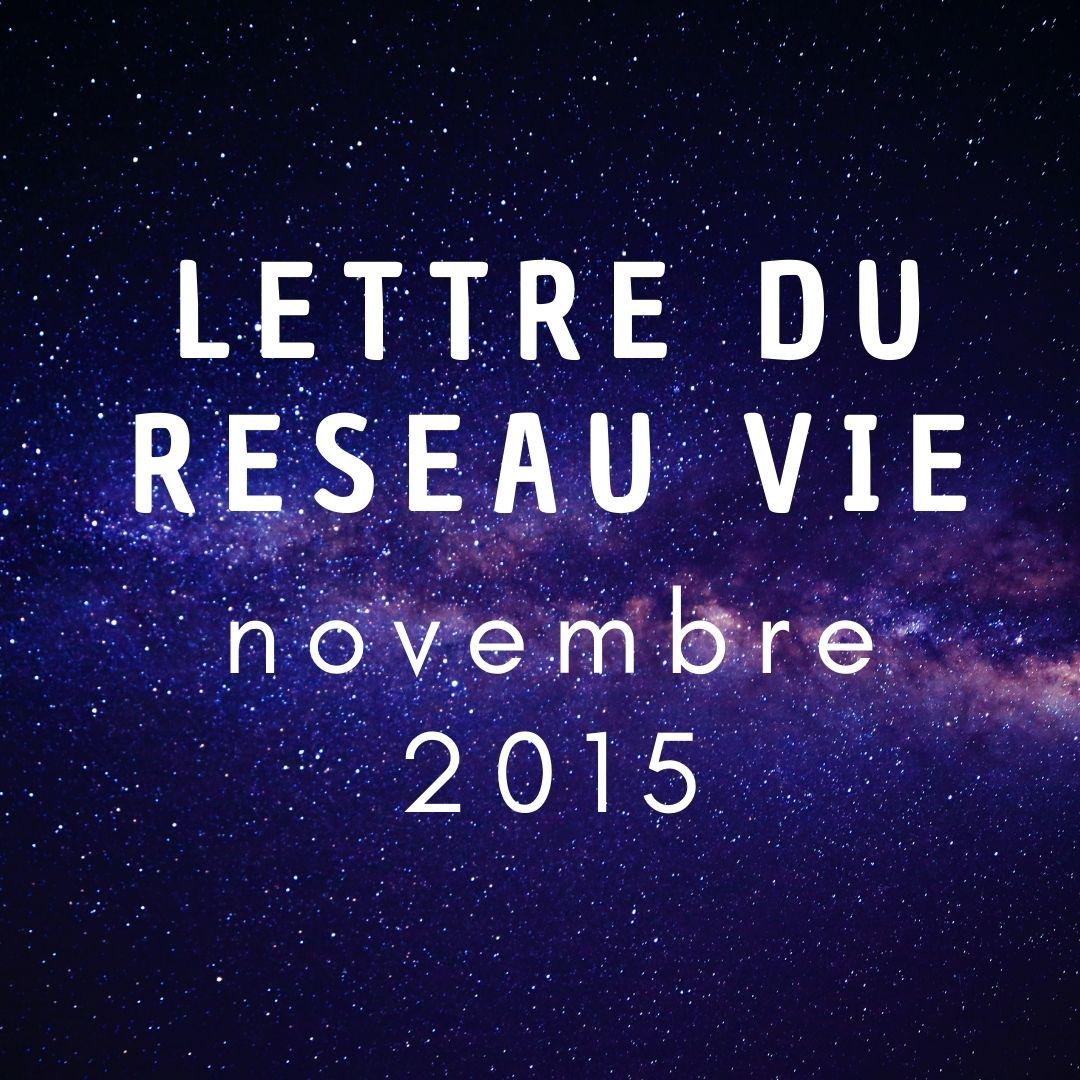 Lettre du réseau vie nov 2015